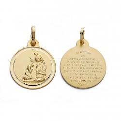 Medalla oro 18k bendición San Francisco [AA0610]