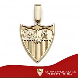 Colgante escudo Sevilla FC oro de ley 18k liso 20mm. [AA0651]