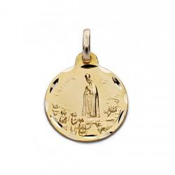 Medalla oro 9k Virgen de Fátima 16mm. [AA0682]