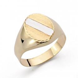 Sello oro 9k bicolor oval [AA0714]