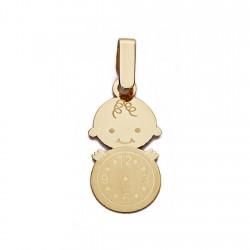 Medalla oro 9k nino reloj 19mm. [AA0741]
