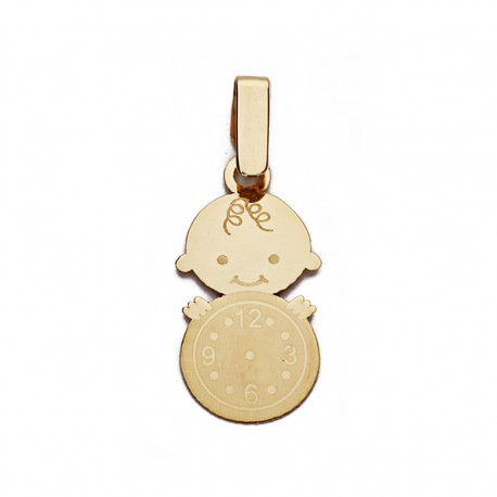 Medalla oro 9k niño reloj 19mm. [AA0741]