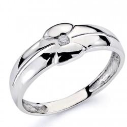 Solitario oro blanco 18k 1 diamante brillante 0,05ct [7318]