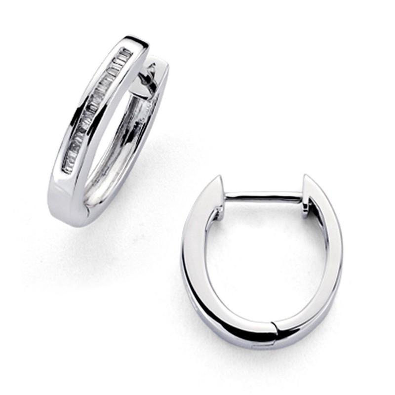 d8faac308c96 Pendientes oro blanco 18k aros diamantes carré 0