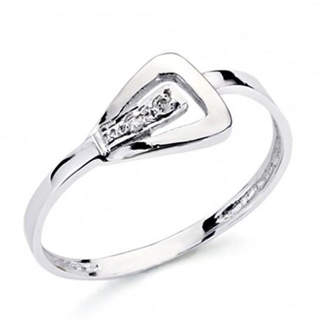 Sortija oro blanco 18k 1 diamante brillante 0,016ct [7387]