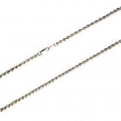 Cordón cadena plata 925m salomónico 4mm. 50cm. [9689]