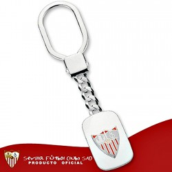 Llavero escudo Sevilla FC plata de ley chapa esmalte [8556]
