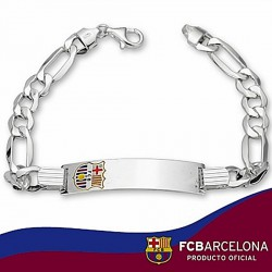 Esclava F.C. Barcelona Plata de ley cartier esmalte 21cm. [6877]