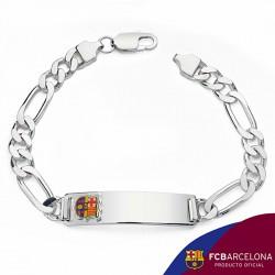 Esclava escudo F.C. Barcelona Plata de ley cartier grande [6879]