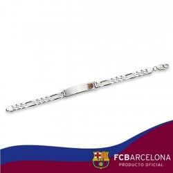 Esclava escudo F.C. Barcelona Plata de ley cartier mediana [6878]