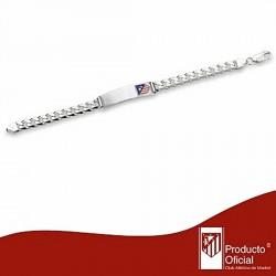 Esclava escudo Atlético de Madrid Plata de ley barbada grande [7026]