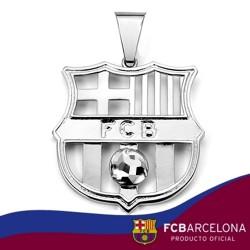 Colgante escudo F.C. Barcelona Plata de ley calado [808]