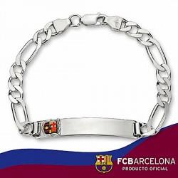 Esclava escudo F.C. Barcelona Plata de ley cartier pequeña [6872]