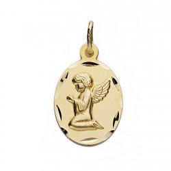 Medalla oro 18k Ángel de la Guarda 19mm. oval [9067]