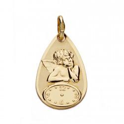Medalla oro 18k ángel reloj 18mm. [AA0063]