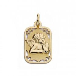 Medalla oro 18k angelito 19mm. [AA0181]