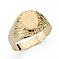 Sello oro 18k caballero tallado [AA0411]