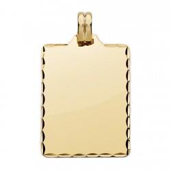 Colgante chapa oro 18k tallada 36mm. [AA0524]