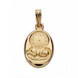 Medalla oro 18k niño reloj 20mm. [AA0533]