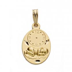 Medalla oro 18k niño reloj 19mm. [AA0577]