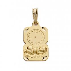 Medalla oro 18k niño reloj 19mm. [AA0578]