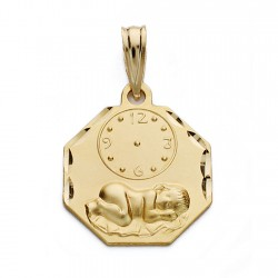 Medalla oro 18k niño reloj 17mm. [AA0580]