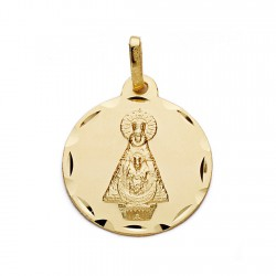 Medalla oro 18k Virgen de Tiscar 18mm. [AA0608]