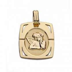 Medalla oro 9k angelito 20mm. [AA0737]