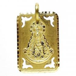 Colgante oro 18k medalla Virgen del Rocío [642]