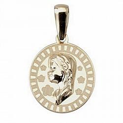 Colgante oro 18k medalla Virgen Niña [4957]