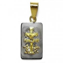 Chapa acero cruz caravaca oro [77]