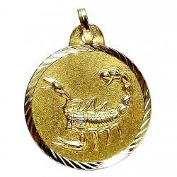 Colgante oro 18k horoscópo Escorpión medalla [84]