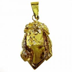 Cabeza rostro cristo oro [473]