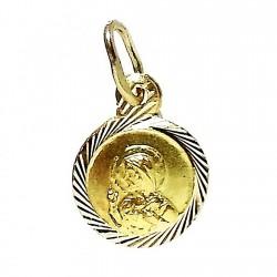 Colgante oro 18k medalla Corazón de Jesús [431]