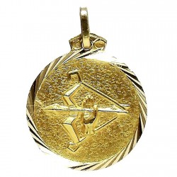 Colgante oro 18k horoscópo Sagitario medalla [91]