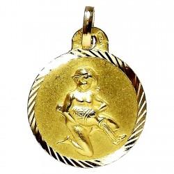 Colgante oro 18k horoscópo Acuario medalla [640]