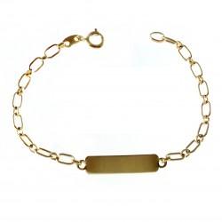 Esclava chapada oro 17cm. eslabón ovalado [2696]