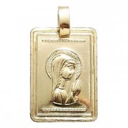 Medalla Gold Filled chapa Virgen Niña matizado [2478]