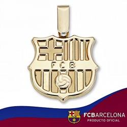 Colgante escudo F.C. Barcelona oro de ley 18k 20mm. liso [6502]