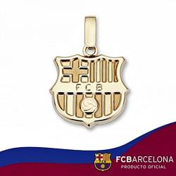 Colgante escudo F.C. Barcelona oro de ley 18k 16mm. liso [6504]