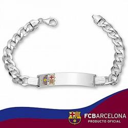 Esclava F.C. Barcelona Plata de ley barbada esmalte 21cm. [6880]
