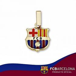 Colgante escudo F.C. Barcelona oro de ley 9k 12mm. esmalte [6534]