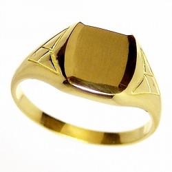 Sello oro 18K cadete triángulos. Peso: 2,6gr. [161]
