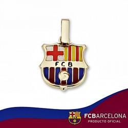 Colgante escudo F.C. Barcelona oro de ley 9k 14mm. esmalte [6533]