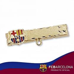 Alfiler escudo F.C. Barcelona oro de ley 9k esmalte [6543]