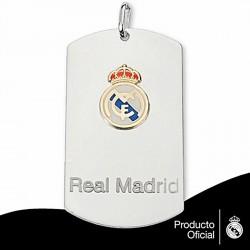 Chapa escudo Real Madrid Plata de ley oro [6785]