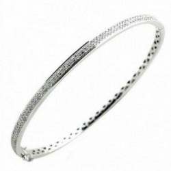 Brazalete oro blanco 18k 150 diamantes blancos y negros 2.2ct [AA1098]