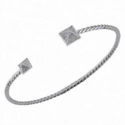 Pulsera brazalete oro blanco 18k 112 diamantes 0.3ct [AA1100]