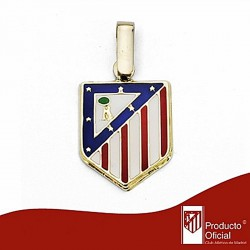 Colgante escudo Atlético de Madrid oro de ley 18k 16mm. [6972]