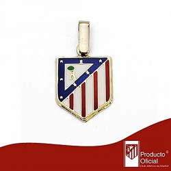 Colgante escudo Atlético de Madrid oro de ley 18k 14mm. [6973]